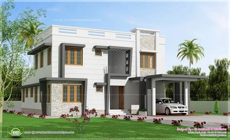 villa home plans 2450 sq modern villa design kerala home design and