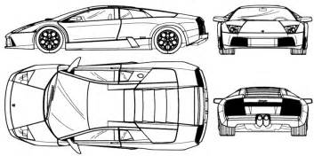 Lamborghini Gallardo Blueprint Car Blueprints Lamborghini