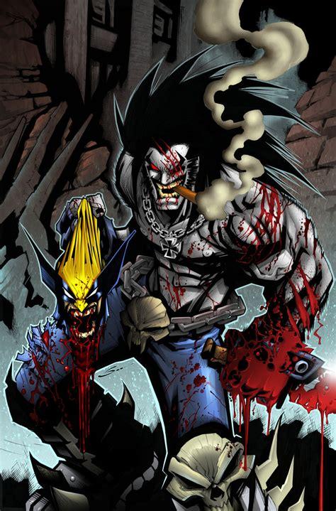 imagenes de batman vs wolverine lobo vs wolverine color by sandoval art on deviantart