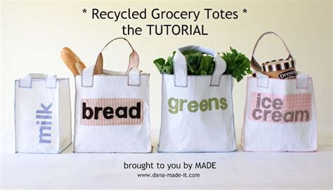 Think Big Slogan Totebag diy reusable shopping bags made from used plastic grocery
