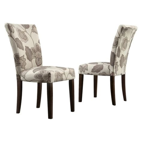 Grey Parsons Chair - quinby parson floral dining chair wood gray set of 2