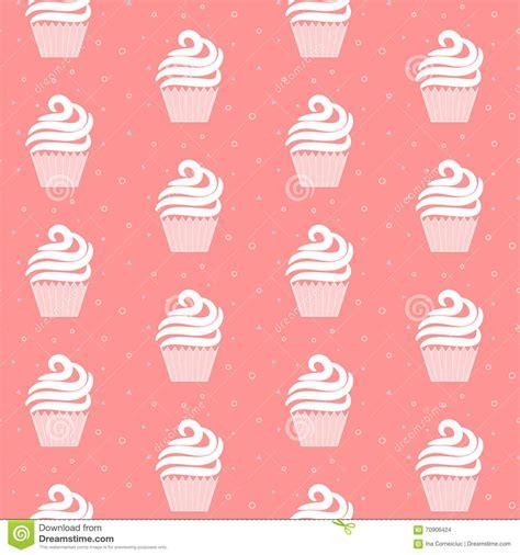 cake background pattern vector pink cupcake seamless pattern sweet cake texture design
