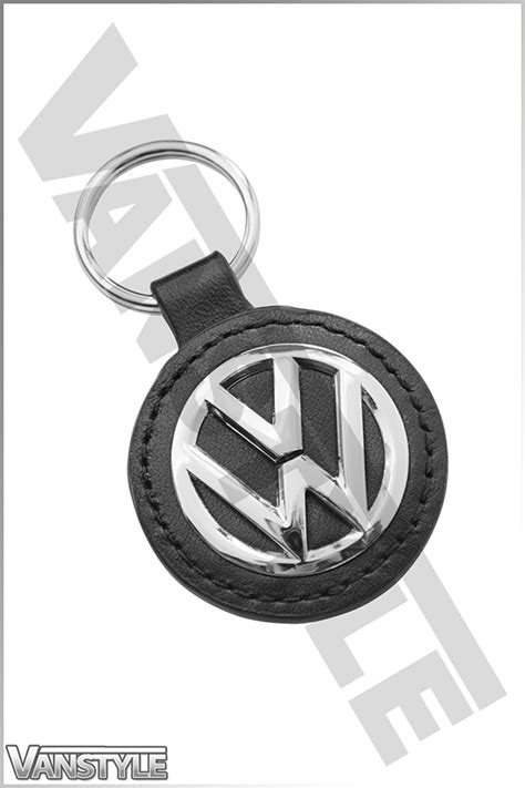 original volkswagen logo genuine volkswagen key ring tag leather polished vw logo