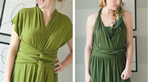 How To Make A Dress Out Of Wrapping Paper - diy infinity wrap dress tutorial