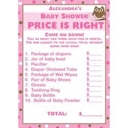 free printable price is right baby shower template baby shower price is right template pictures to pin on