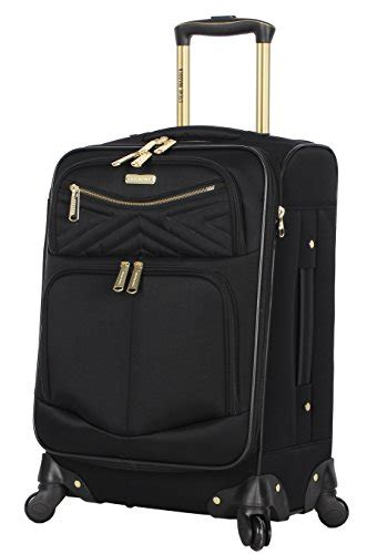 steve madden luggage carry on 20 quot expandable softside suitcase with spinner wheels rockstar