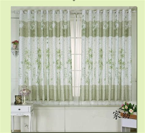 Chinese traditional bamboo door curtains short curtain for the living room in curtains from home
