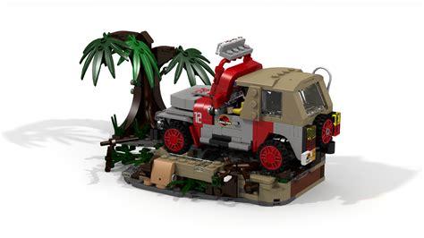 lego jurassic jeep lego ideas jurassic park jeep wrangler dennis demise
