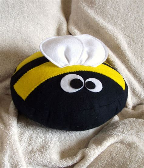 Bumblebee Pillow by Bedbugg Boutique New Bizzee The Bumble Bee Pillow