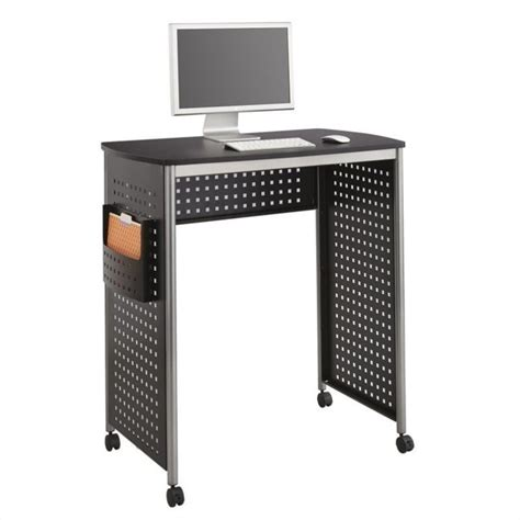 Safco Scoot Standing Desk Workstation In Black 467930 Safco Standing Desk