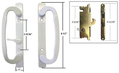 Keyed Patio Door Handle Stb Sliding Glass Patio Door Handle Set With Mortise Lock White Non Keyed 3 1 Ebay