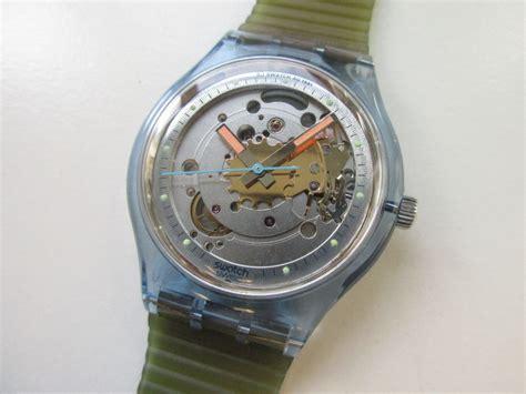 swatch san100 blue matic automatic polshorloge 1991