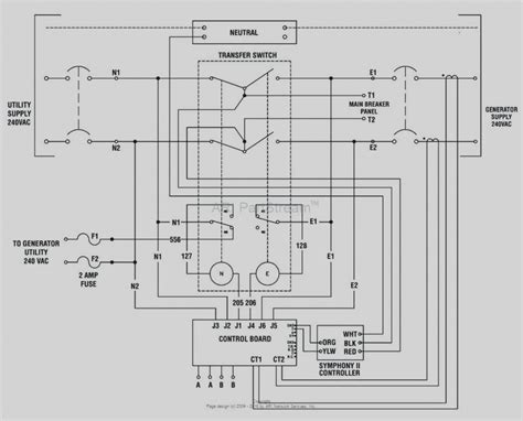 wiring diagram   generator transfer switch wiring