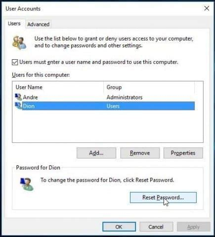 reset anz online password how to recover or reset a lost windows 10 user account