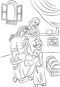 santa anna coloring page saints anna and joachim with little mary coloring page