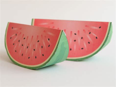 Watermelon Paper Craft - paper craft watermelon all