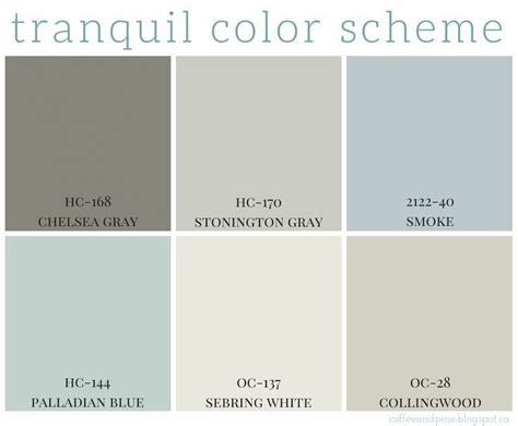 blue neutral color tranquil color scheme calming colors benjamin moore and
