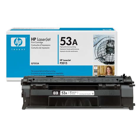 Toner Q7553a hp original oem q7553a black laser toner cartridge