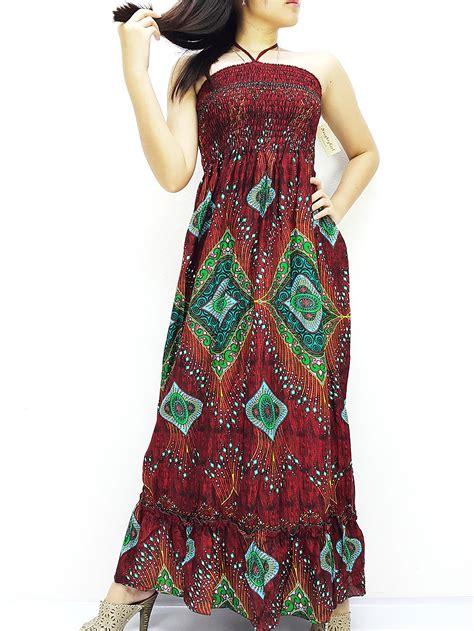 Maxi Dress Thai 2779 thai maxi dress dress boho dress hippie dress