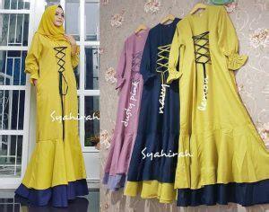 Sale Cuci Gudang Maxi Dress Tie Dye gamis remaja syahira katun platinum baju muslim modern