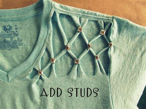 shirt pattern diy wobisobi no sew lattice stud t shirt diy