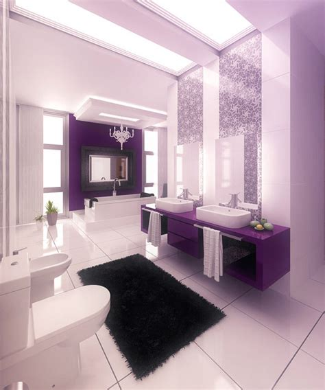15 majestically pleasing purple and lavender bathroom