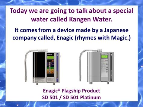 Special Kangen Water change your water change your ppt