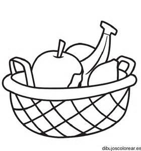 dibujo de una cesta de frutas dibujos para colorear