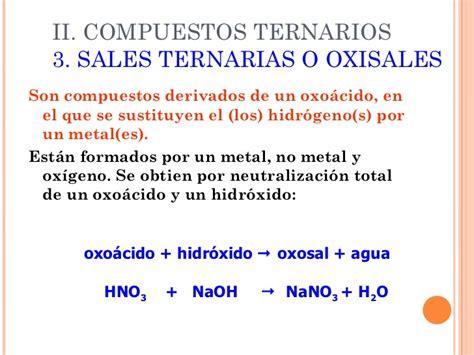 nomenclatura sales ternarias nomenclatura de las sales equipo 5