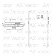 Samsung Galaxy S7 Vector Template Vector Contour Cut Templates Pinterest Shops Samsung Note 8 Skin Template