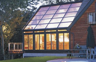 straight glass roof sun room  solarium  wood