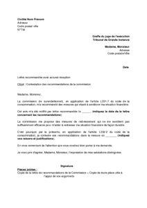 lettre de contestation des recommandations de la