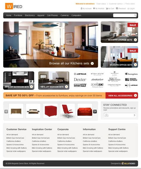 home furnishing decoration website design psd material