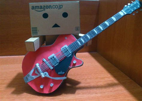 Guitar Papercraft - danbo guitar papercraft by suraj281191 on deviantart