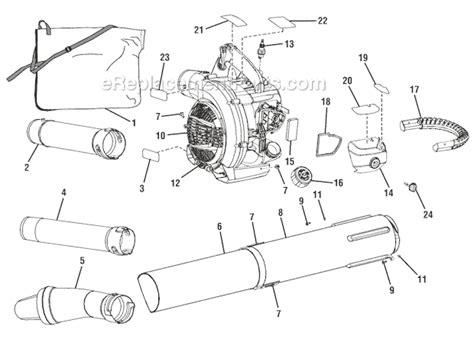 ryobi blower parts diagram ryobi ry09053 parts list and diagram ereplacementparts