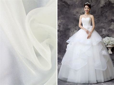 organza plain white wedding dresses list of the trendiest wedding dress material and fabrics
