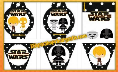imagenes feliz navidad star wars kit de star wars vii para imprimir gratis y decorar kits