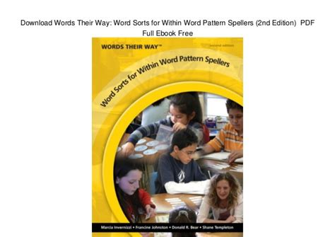 Download Words Their Way Word Sorts For Within Word