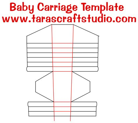 Baby Carriage Card Template by Baby Carriage Template Baby Carriage With Cutting File