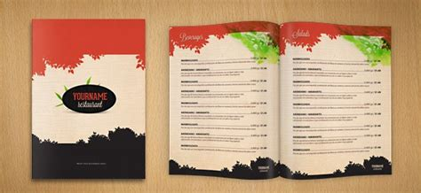design menu in photoshop restaurant menu psd template free psd files