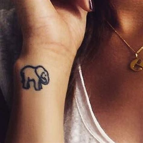 elephant wrist tattoos eleanor calder s 4 tattoos meanings style