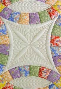 up wedding ring quilt quilting design by