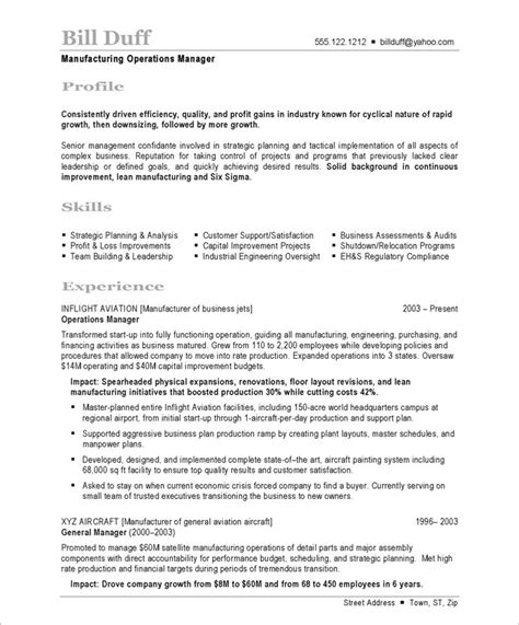 template resume production manager manufacturing best of t film
