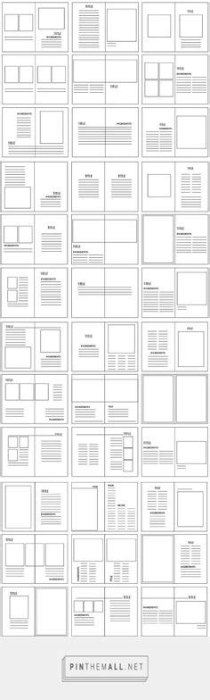 graphic design grid layout pdf photography portfolio brochure templatebrochuretemplates