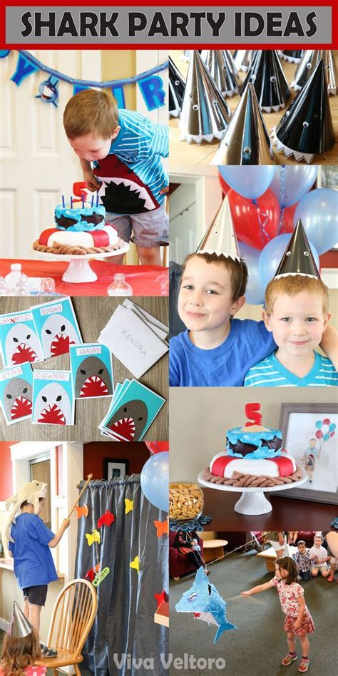 killer party themes throw a killer party with these shark birthday party ideas
