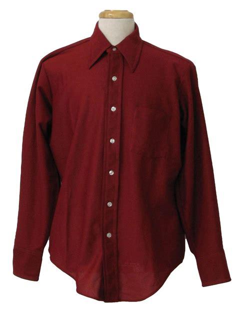 vneda longsleeve shirt maroon 1970 s shirt arrow 70s arrow mens maroon longsleeve