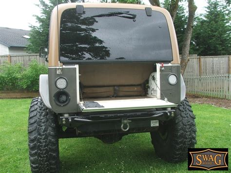 Jeep Wrangler Tailgate Conversion Yj Drop Tailgate Conversion Kit 240 To Hold