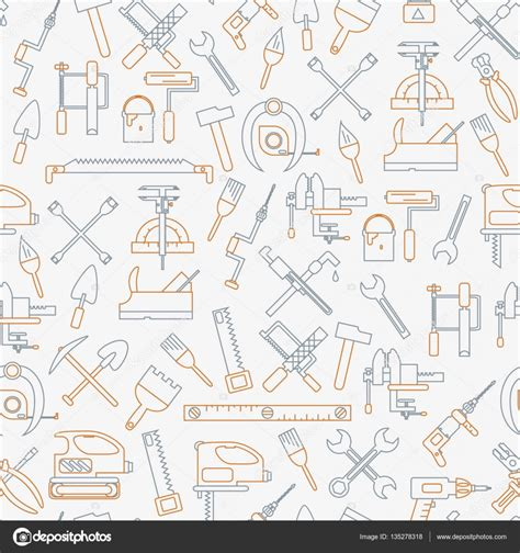 Download Pattern St Tool | seamless line pattern with working tools for construction