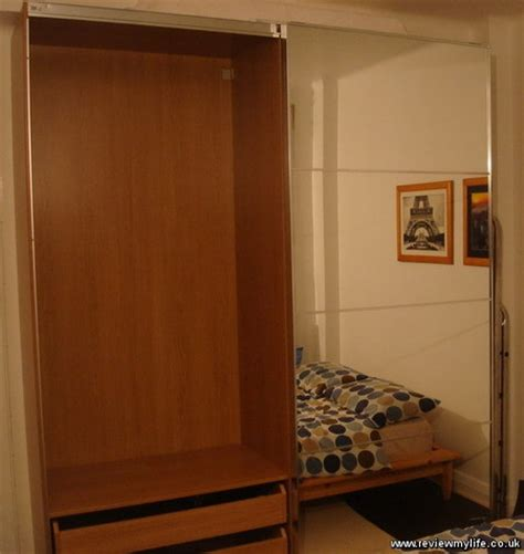 ikea pax wardrobe assembly stained oak veneer wardrobe with mirrored doors