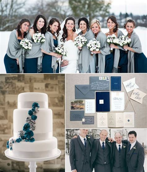 top 6 classic winter wedding color combo ideas trends all things wedding grey